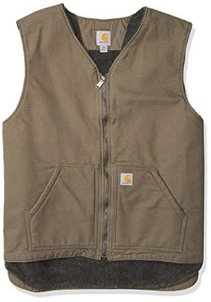 Carhartt Mens Relaxed Fit Washed Duck Sherpa-Lined Jacket