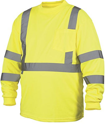 Rugged Outfitters Class 3 Long Sleeve T-Shirt Hi-Vis Safety Green X-Large