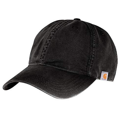 Carhartt 103938 Men's Cotton Canvas Cap - One Size Fits All - Black