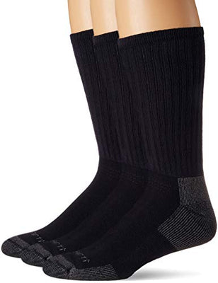 Carhartt A62-3 Men's 3-Pack Standard All-Season Cotton Crew Work Socks