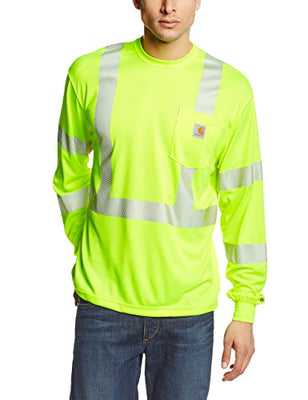 Carhartt Men's High Visibility Force Long Sleeve Class 3 Tee