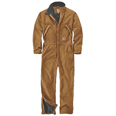 Carhartt 104396mens Loose Fit Washed Duck Insulated Coverall