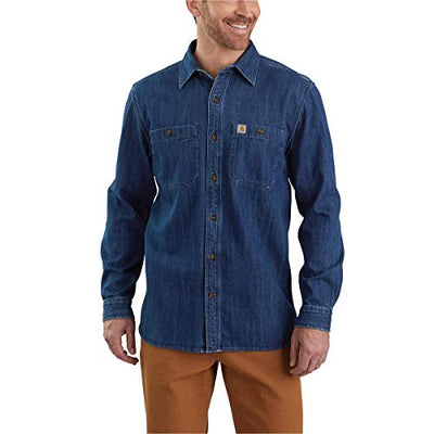 Carhartt 104145 Men's Cotton/Spandex Rugged Flex Rigby Long Sleeve Work Shirt