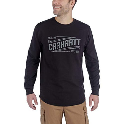 Carhartt Men's 103850 Tilden Graphic Long Sleeve Crew - XX-Large - Black