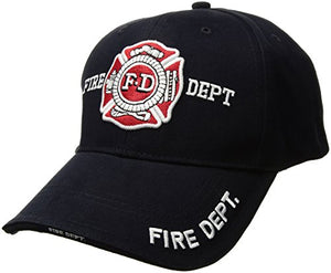 Rothco Deluxe Low Profile Cap/Fire Dept-Blue, Size