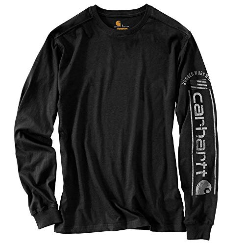 Carhartt 104536 Men's Long-Sleeve, Black, X