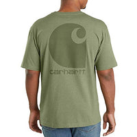Carhartt Men's 103559 Workwear C Logo Graphic Short Sleeve T-Shirt - 3X-Large Tall - Oil Green Heather