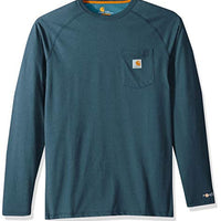 Carhartt Men's Big & Tall Force Cotton Delmont Long Sleeve T Shirt