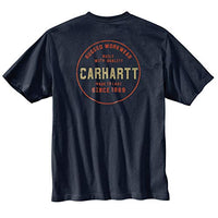 Carhartt Men's 104178 Rugged Graphic T-Shirt - XX-Large - Navy