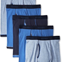 Hanes 7694R5 Men's  5-Pack Ultimate  Exposed Waistband Ringer Boxer with ComfortFlex Waistband Brief-Assorted Colors
