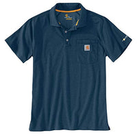 Carhartt 103569 Men's Force Cotton Delmont Pocket Polo