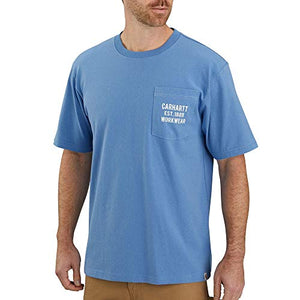 Carhartt Men's 104176 Pocket Workwear Graphic T-Shirt - Large - French Blue