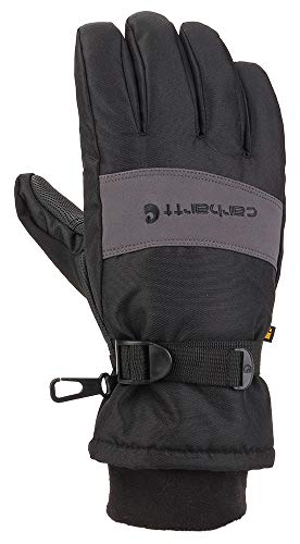 Carhartt Men's WP Waterproof Insulated Glove, black/Grey, Medium
