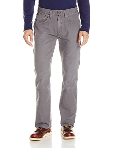 Carhartt 100096 Men's Weathered Duck 5 Pocket Pant Relaxed Fit,Gravel,38Wx30L