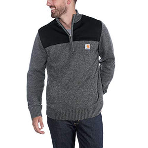 Carhartt 103865 Men's Quarter Zip Sweater - XX-Large - Carbon Heather