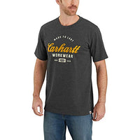 Carhartt Men's 104181 Made to Last Explorer Graphic T-Shirt - Medium - Carbon Heather