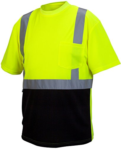 Rugged Outfitters 66702 Hi-Vis Safety Shirt with Moisture Wicking Mesh (Safety Green, Large)