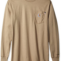 Carhartt 100235 Men's Big & Tall Flame Resistant Force Cotton Long Sleeve T Shirt