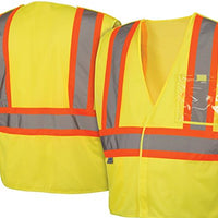 Pyramex Lumen X Class 2 Safety Vest with 5 Point Breakaway