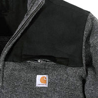 Carhartt Men's 103865 Quarter Zip Sweater - Medium - Carbon Heather