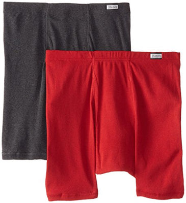 Hanes Men's 2-Pack Assorted Comfortsoft Boxer Briefs