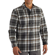 Carhartt Men's 102216 Hubbard Classic Plaid Shirt - XX-Large - Carbon Heather