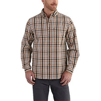 Carhartt Men's 102278 Essential Plaid Button Down Long Sleeve Shirt - 2X Regular - Charcoal