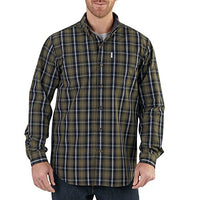 Carhartt 102202 Men's Bellevue Long Sleeve Shirt - Medium - Army Green