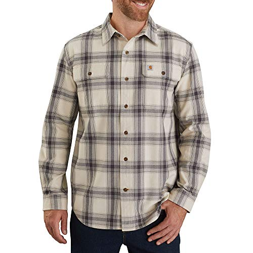 Carhartt 104451 Men's Big & Tall Long-Sleeve, Oyster White, 3X