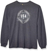Carhartt Men's Lubbock USA Graphic Long Sleeve T Shirt (Regular and Big & Tall Sizes)