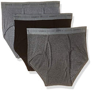 Hanes Men's 3-Pack Mid-Rise Exposed Waistband Briefs