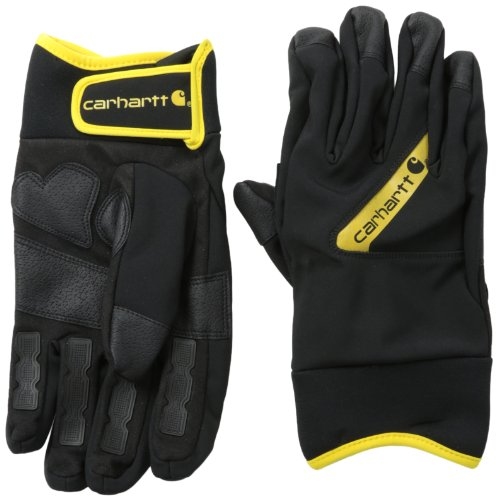 CAR-GLOVE-A617-BLK YELLOW-LARGE
