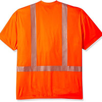 Carhartt Big and Tall Men's Big & Tall Force High Visibility Short Sleeve Class 2 T-Shirt