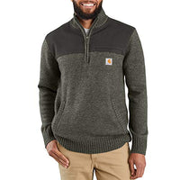 Carhartt Men's 103865 Quarter Zip Sweater - XX-Large - Olive Heather