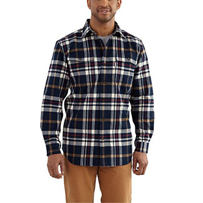 Carhartt Men's Hubbard Classic Plaid Shirt - Navy - XX-Large