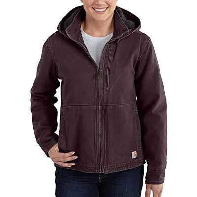 Carhartt Women's 101762 Women's Full Swing™ Sandstone Winn Jacket - Small - Deep Wine