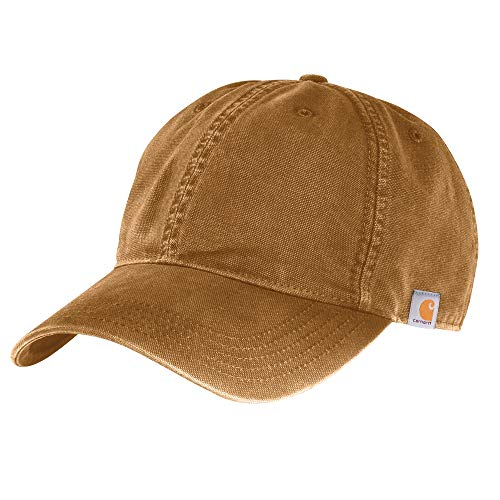 Carhartt 103938 Men's Cotton Canvas Cap - One Size Fits All - Carhartt Brown