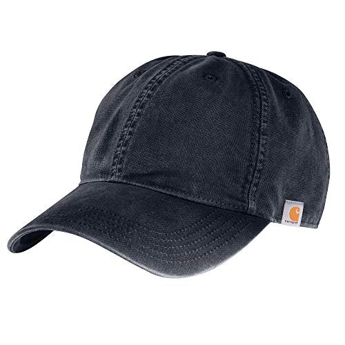 Carhartt 103938 Men's Cotton Canvas Cap - One Size Fits All - Navy