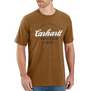 Carhartt Men's 104181 Made to Last Explorer Graphic T-Shirt - XXX-Large - Oiled Walnut Heather