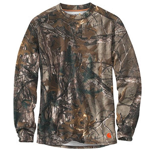 Carhartt 102222 Men's Base Force Extremes Cold Weather Camo Crewneck - Small - Realtree Xtra