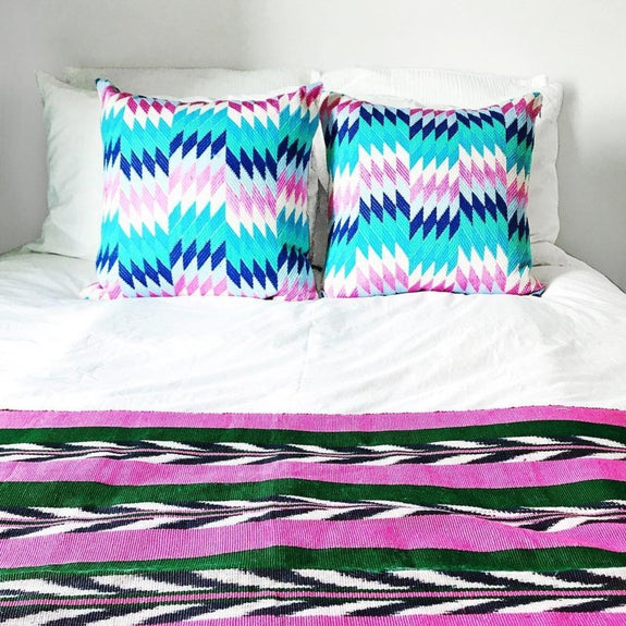 Almolonga Diamond Pillow - Blue Multi