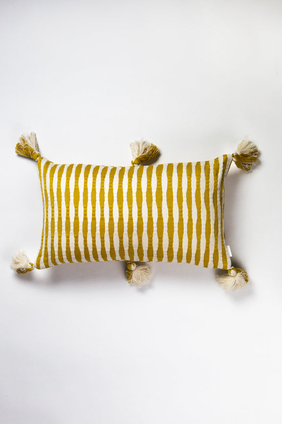 Antigua Pillow - Ochre Striped