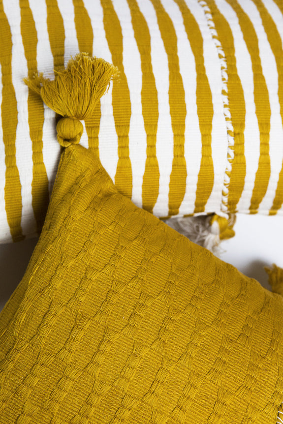 Antigua Pillow - Ochre Solid