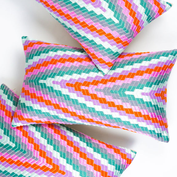 Almolonga Zig Zag Pillow - Orange Multi