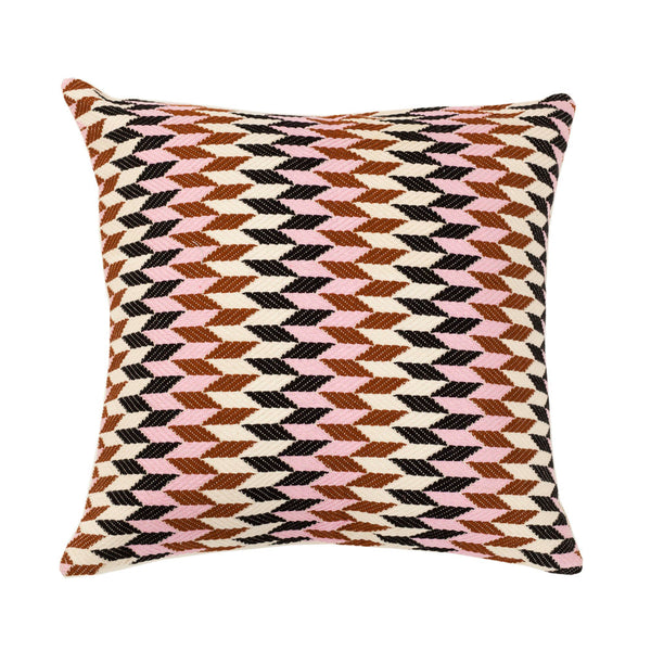 "Made to order: Almolonga 70s Dream Pillow - Pink & Brown 20"" x 20"""