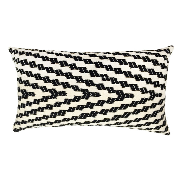 Backordered: Almolonga Zig Zag Pillow - Black & White