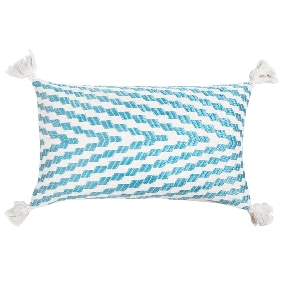Made to order: Almolonga Blue Silk Pillow
