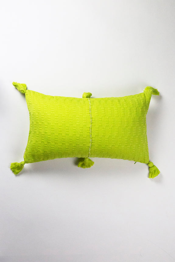 Antigua Pillow - Lemon Lime Solid