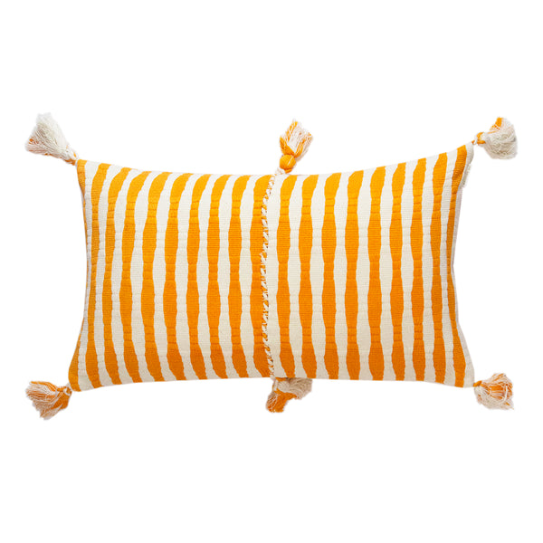 Antigua Pillow - Orange Striped