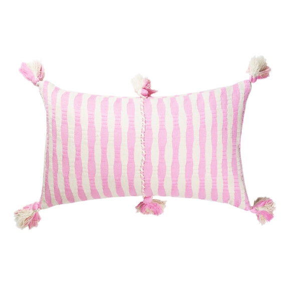 Antigua Pillow - Baby Pink Stripe